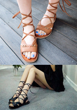 CHUU<BR>Can You Tell Strappy Flat Sandals