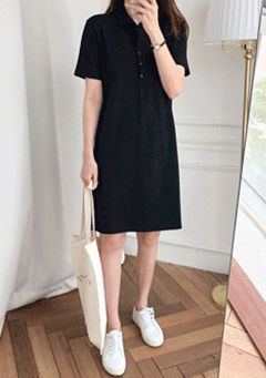 Kermit Neck Collar Mid Sleeves Midi Dress