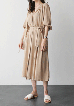 Wyatt Loose Pleated Maxi Dress