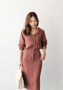 Gabriel Fitted Buttoned-Up Dress