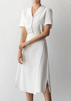 Daniel Draped Collar Midi Dress