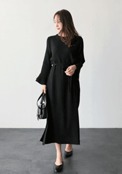 Lulu Long Sleeves Midi Dress