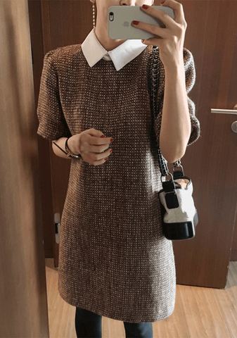 Winter Solstice Tweed Dress