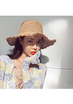Lovesong Straw Bucket Hat