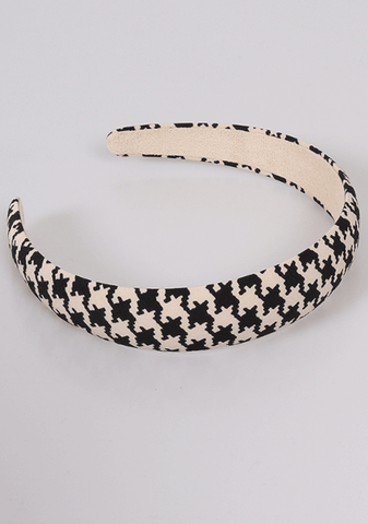 Can I Trust You Houndstooth Hair Band