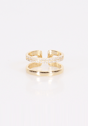 Shiny Double Bar Ring