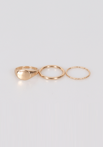Waves Know Shores Rings Set