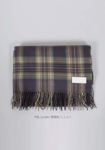 All Of A Sudden Wool Check Scarf