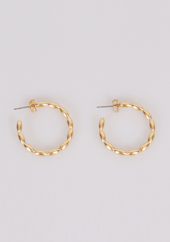 Laughing And Cheering Hoops Earrings