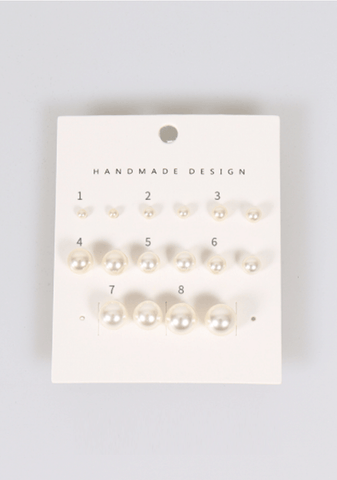 Overly Emotional Pearls Earrings