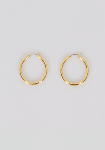 Thank You Note Hoops Earrings