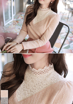 Leaves Lullaby Lace Knit Top