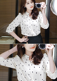 Dotted Like Dalmatian Blouse