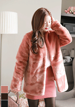 A Person Conscience Faux-Fur Jacket
