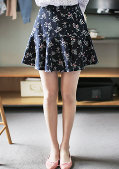 Linenful Flower Skirt