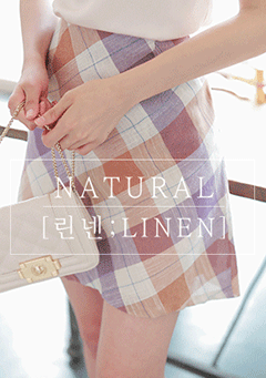 Buzzcut Season Linen Plaid Skirt