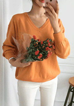 My Loneliness Knit Long Sleeves Top