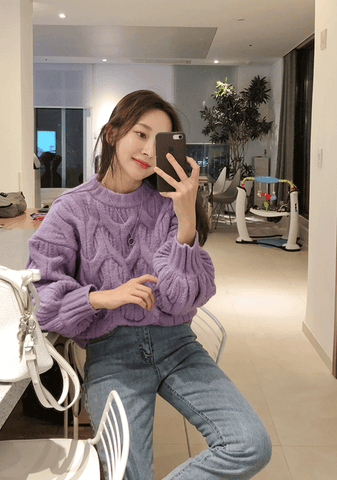 Famous Quotes Thread Knit Sweater