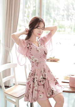 Rose Cream Romantic Dress