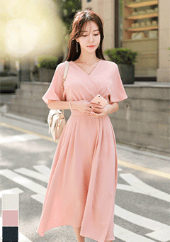 Wrap Styled Romantic Dress