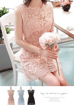 Bleeding Love Lace Sleeveless Dress