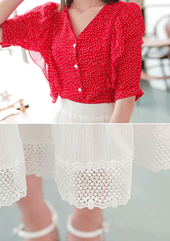 The Only Exception Blouse Skirt Set