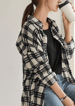 Truth And Beauty Maxi Plaid Shirt