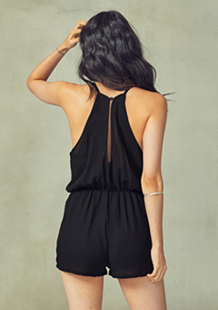 Simple Halter Neck Romper