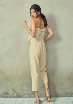 Chest Tie Off Shoulder Jumpsuit