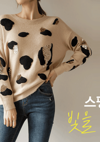 Moscow Polka-Dot Knit Sweater