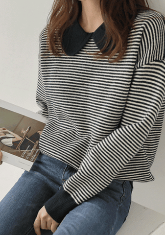 Like Real People Do Stripes Knit Top