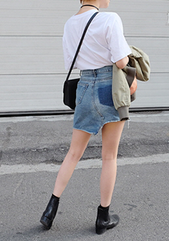 Wishing More Denim Skirt
