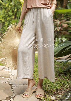 Mora Linen Wide-Legs Trousers