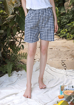Bothnia Gingham Pattern Shorts
