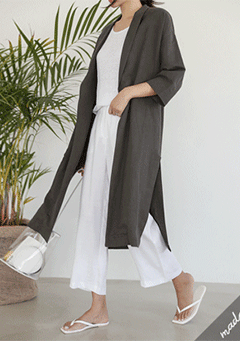 Long Jacket in Oversized Shape