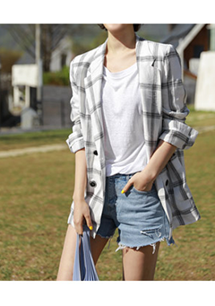 Linen Checkered Light Jacket