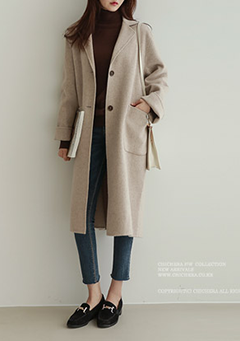 Roll Up Sleeve Handmade Coat