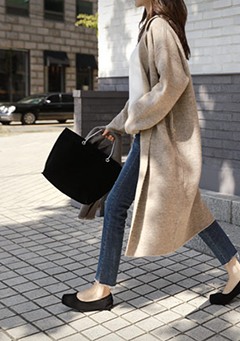 Collared Knit Coat