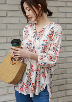 Gardening Flowers Blouse