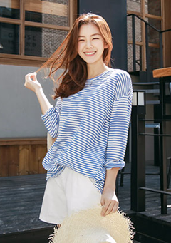 Candy Stripe Loose Top