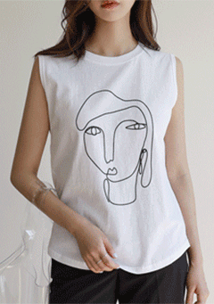 Drawing Sleeveless Vest