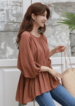 Porter Fly-Away Pleated Blouse