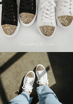 Sparkle Point Sneakers