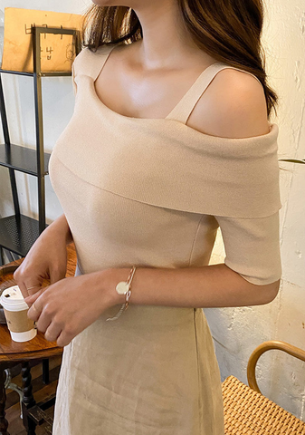 Most Of The Time One-Shoulder Knit Top