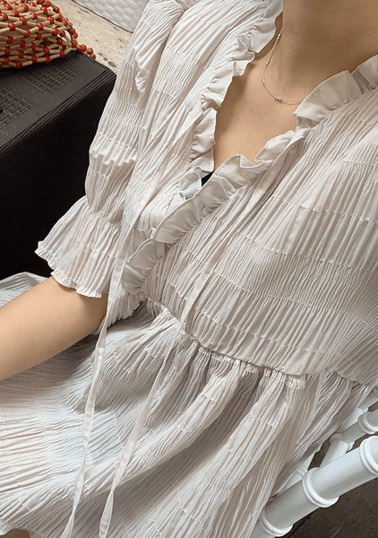 In The Palazzo Pleated Blouse