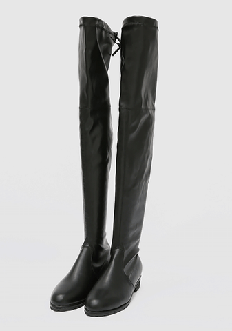 String Simple Knee High Boot