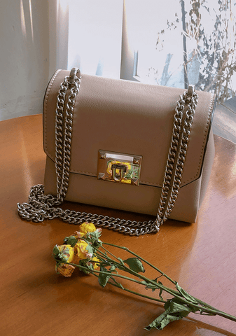 Cross Body Bag With Chain Handle