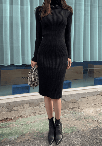 Paula Ribbed Knit Dress