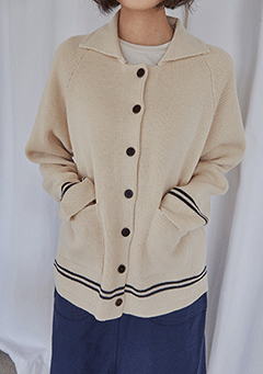 Line Button Cardigan