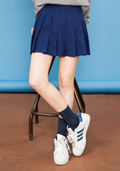 Side Button 9Colors Tennis Skirt